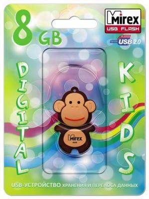Фото - Флеш накопитель 8GB Mirex Monkey, USB 2.0, Коричневый флеш накопитель hoco ud6 8gb