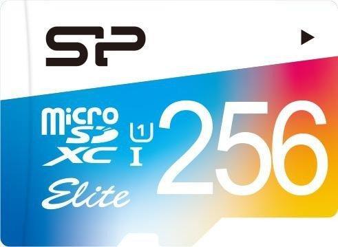 Фото - Флеш карта microSD 256GB Silicon Power Elite microSDHC Class 10 UHS-I Colorful карта памяти silicon power micro sdxc 256gb elite class 10 uhs i u1 adp 85 15 mb s