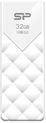 Фото - Флеш накопитель 32Gb Silicon Power Blaze B03, USB 3.2, Белый флеш накопитель 8gb silicon power blaze b05 usb 3 0 розовый