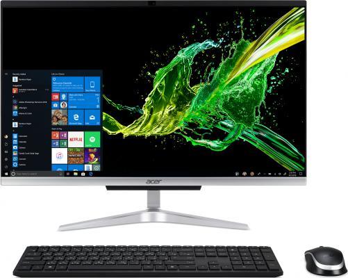 Моноблок Acer Aspire C22-963 21.5 FHD Inte Core i3-1005G1, 4Gb, 1Tb + SSD 128Gb,CR,KB,M,SILVER,Win10 Pro (DQ.BENER.00C) acer aspire c22 320 [dq bcqer 005] 21 5 fhd a6 9220e 4gb 1tb linux k m