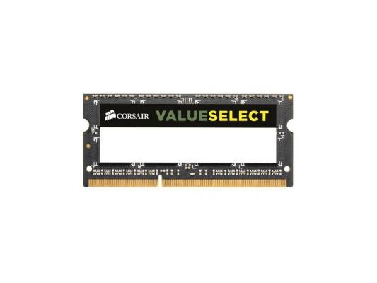 Оперативная память SO-DIMM DDR3 Corsair 8Gb (pc-12800) 1600MHz <Retail> (CMSO8GX3M1A1600C11) оперативная память ddr3 2gb pc12800 1600mhz crucial ct25664bd160bj