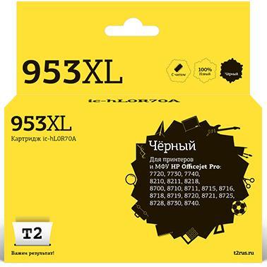 Фото - IC-HL0S70A Картридж T2 №953XL для HP OfficeJet Pro 7720/7730/7740/8210/8710/8720/8730/8740, черный принтер hp officejet pro 8210 черный