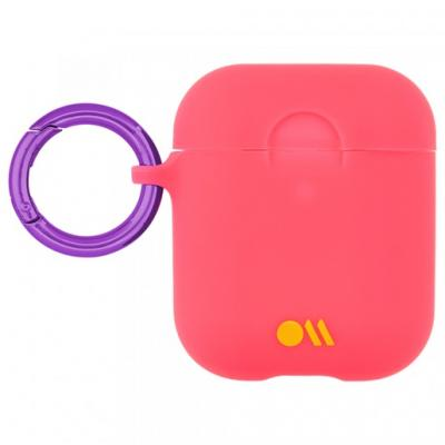 Чехол Case-Mate Hook Ups Case & Neck Strap для AirPods персиковый CM039240