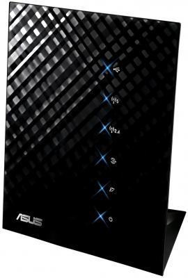 Маршрутизатор ASUS RT-N56U 802.11n 300Mbps 5 ГГц 4xLAN USB USB черный