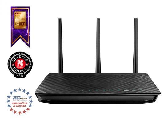 Беспроводной маршрутизатор ASUS RT-N66U 802.11bgn 900Mbps 5 ГГц 4xLAN USB черный маршрутизатор asus rt n56u 802 11n 300mbps 5 ггц 4xlan usb usb черный