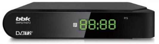 Фото - Ресивер DVB-T2 BBK SMP027HDT2 черный комплект постельного белья хлопковый край анамур 2 х спальный наволочки 70x70 цвет карамельный
