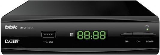 Ресивер DVB-T2 BBK SMP251HDT2 черный