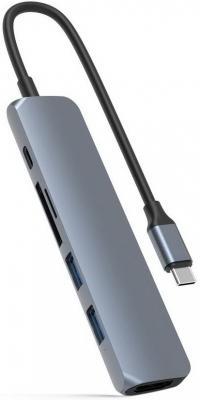 USB-хаб Hyper HyperDrive BAR 6-in-1 USB-C Hub для iPad Pro, MacBook Pro / Air. Порты: HDMI, 2 x USB-A, Micro SD, SD, USB Type-C Power Delivery. Цвет: серый космос.