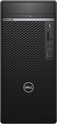 Dell Optiplex 7080 MT Intel Core i7 10700(2.9Ghz)/16GB/SSD 512GB/DVD-RW/Intel UHD Graphics 630/SD/TPM/3y NBD/black/W10Pro сервер dell poweredge r240 1xe 2236 x4 1x4tb 7 2k 3 5 sata rw h330 id9en 1g 2p 1x250w 3y nbd rails per240ru2 1