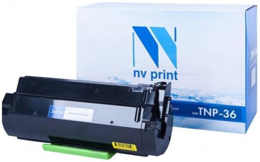 Тонер-картридж NV-Print TNP-36 для Konica Minolta Bizhub 3300P Bizhub 3301P 10000стр Черный картридж nv print tnp 27k 2100стр черный