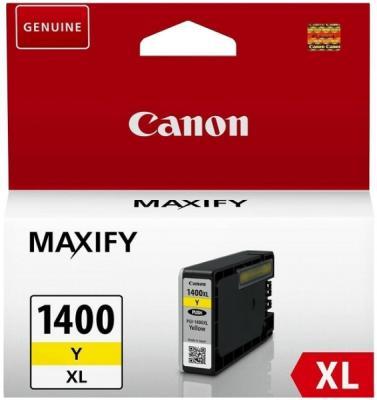 Картридж SuperFine PGI-1400XL для Canon MB2040 MB2340 Maxify MB2140 Maxify MB2740 935стр Желтый