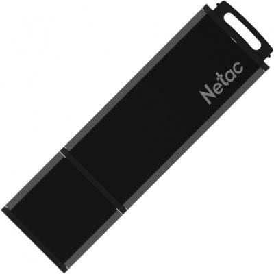 Фото - Флеш Диск Netac U351 8Gb <NT03U351N-008G-20BK>, USB2.0, с колпачком, металлическая чёрная usb flash drive 8gb netac u197 nt03u197n 008g 20bk