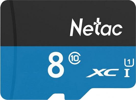 Фото - Флеш карта microSDHC 8GB Netac P500 <NT02P500STN-008G-S> (без SD адаптера) 80MB/s карта памяти netac microsd p500 16gb nt02p500stn 016g s