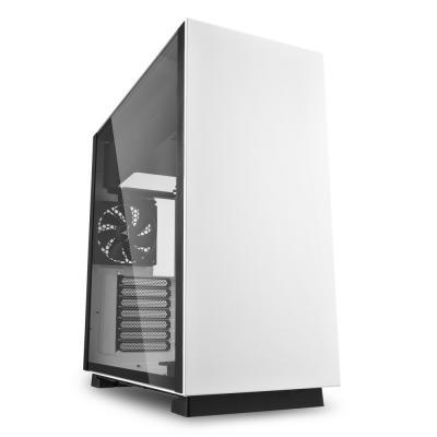 Игровой корпус Sharkoon PURE STEEL белый (ATX, закаленное стекло, fan 1x120 мм + 1x120 мм, 2xUSB 3.0, audio) биметаллический радиатор rifar рифар b 500 нп 10 сек лев кол во секций 10 мощность вт 2040 подключение левое