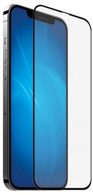Защитное стекло прозрачная DF iColor-25 для iPhone 12 iPhone 12 Pro 0.33 мм черная рамка