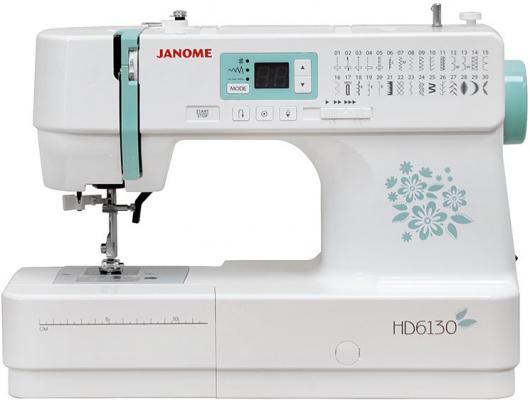 Швейная машина Janome HD 6130 белый/цветы