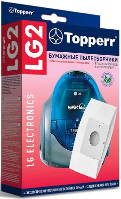 c Пылесборники Topperr LG 2 бумажные (5пылесбор.) (1фильт.)