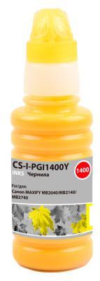 Чернила Cactus CS-I-PGI1400Y желтый100мл для Canon MAXIFY MB2040/MB2140/MB2740