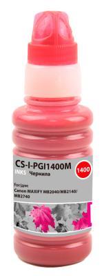 Чернила Cactus CS-I-PGI1400M пурпурный100мл для Canon MAXIFY MB2040/MB2140/MB2740