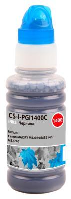 Чернила Cactus CS-I-PGI1400C голубой100мл для Canon MAXIFY MB2040/MB2140/MB2740