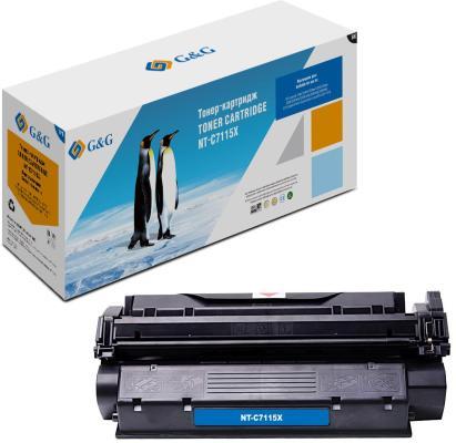 Картридж лазерный G&G NT-C7115X черный (3500стр.) для HP LJ 1000/1005/1200/1220/3380 картридж nv print c7115x для hp lj 1200 1220