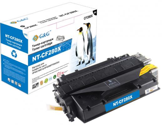 Картридж лазерный G&G NT-CF280X черный (6900стр.) для HP LJ P2035/P2055d/Pro 400 M401/MFP M425