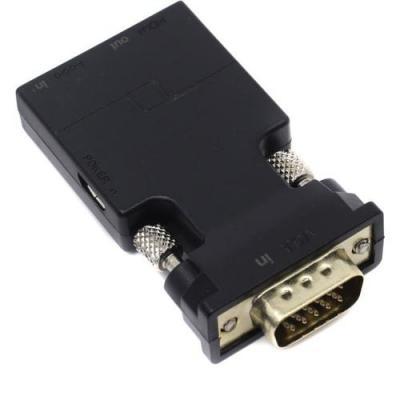 Фото - Переходник HDMI VGA VCOM Telecom CA337 круглый черный переходник vcom telecom dvi vga 29m 15f vad7817