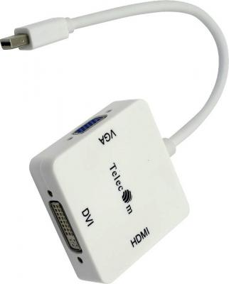 Фото - Кабель-переходник mini DP-->VGA/HDMI/DVI Telecom (TA556) видеокарта 6144mb gigabyte geforce gtx 1060 windforce oc pci e 192bit gddr5 dvi hdmi dp gv n1060wf2oc 6gd retail