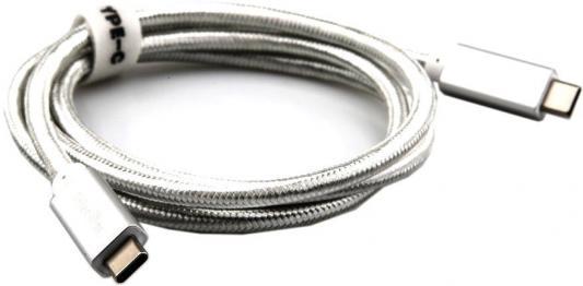 Фото - Кабель Type-C 1м TELECOM TC420S круглый серебрянный кабель borasco usb type c 2а 1м белый