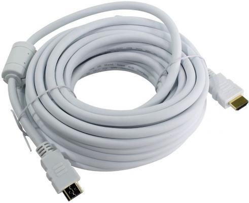 Фото - Кабель HDMI 7.5м AOpen ACG711DW-7.5M круглый белый кабель aopen hdmi hdmi acg511 1 м черный
