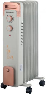 Радиатор масляный Starwind SHV6710 1500Вт белый биметаллический радиатор rifar рифар b 500 нп 10 сек лев кол во секций 10 мощность вт 2040 подключение левое