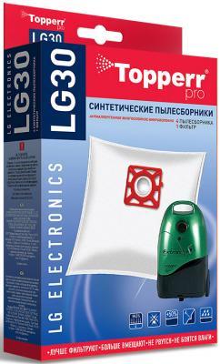 Пылесборники Topperr LG30 сверхпрочные нетканые (4пылесбор.) (1фильт.)