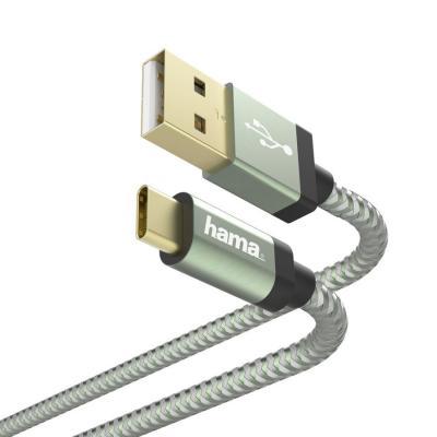 Фото - Кабель Type-C 1.5м HAMA 00187236 круглый зеленый кабель hama microusb usb type c черный 0 75м 00135713
