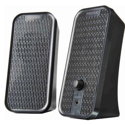 Колонки Microlab B-55 black (USB) 2.0 {3 Вт RMS , 100Hz-18000Hz} microlab md312 black