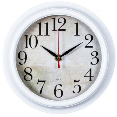 Часы настенные Бюрократ WALLC-R80P белый