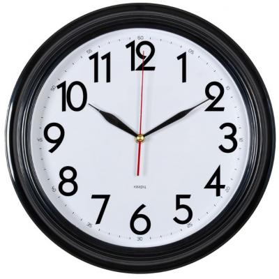 Часы настенные Бюрократ WALLC-R86P белый чёрный