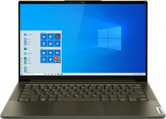 "Ноутбук Lenovo Yoga Slim7 14IIL05 Core i7 1065G7/16Gb/SSD1000Gb/Intel Iris Plus graphics/14""/IPS/FHD (1920x1080)/Windows 10/d.green/WiFi/BT/Cam"