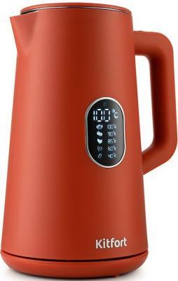 Чайник электрический Kitfort KT-6115-3 1.5л. 1800Вт красный (корпус: пластик)