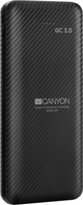 CANYON PB-205 Power bank 20000mAh Li-poly battery, Input Micro/PD 18W(Max), Output PD/QC3.0 18W(Max), with Smart IC, Quick charging cable length 0.24m, 142*64.5*24.5mm, 0.34kg, Black зарядное устройство canyon cne cpb05b 5000mah li pol in 5v 2a out 5v 2 1a smart ic черный кабель 0 25m