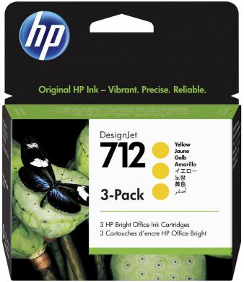 Фото - HP 712 29-ml Yellow DesignJet Ink Cartridge плоттер hp designjet t650 36 [5hb10a]