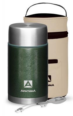 Термос для еды Арктика 306-1000А 1л. зеленый с чехлом (306-1000А/GRE)