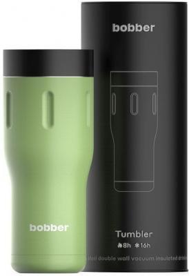 Термокружка Bobber TUMBLER-470/GRE 0,47л зелёный чёрный