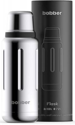 Термос Bobber FLASK-1000/GLOSSY 1л серебристый чёрный