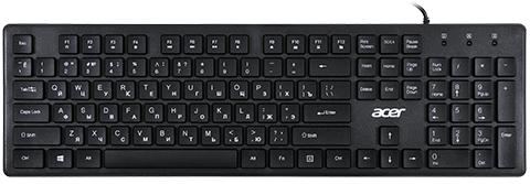 Клавиатура Acer OKW020 черный USB slim
