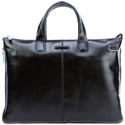 сумка планшет piquadro натуральная кожа черный Сумка для ноутбука Piquadro Blue Square CA4021B2/N черный натур.кожа