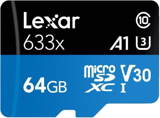 Фото - LEXAR 128GB High-Performance 633x microSDXC UHS-I, up to 100MB/s read 45MB/s write C10 A1 V30 U3, Global lexar 512gb high performance 633x microsdxc uhs i up to 100mb s read 70mb s write c10 a2 v30 u3 global