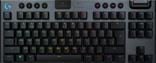 Клавиатура беспроводная Logitech G915 TKL Tenkeyless LIGHTSPEED Wireless RGB USB + Bluetooth черный (920-009536)