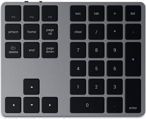 Беспроводной блок клавиатуры Satechi Aluminum Extended Keypad. Цвет серый космос.