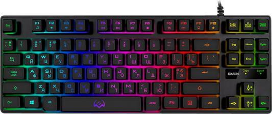 Клавиатура проводная Sven KB-G7400 USB черный клавиатура sven kb s300 usb белый 104кл