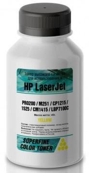 Фото - Тонер HP Color LJ PRO200/M251/CP1215/1525/CM1415/LBP7100C бутылка 40 гр yellow SuperFine тонер hp lj p2035 2055 бутылка 1000 гр superfine